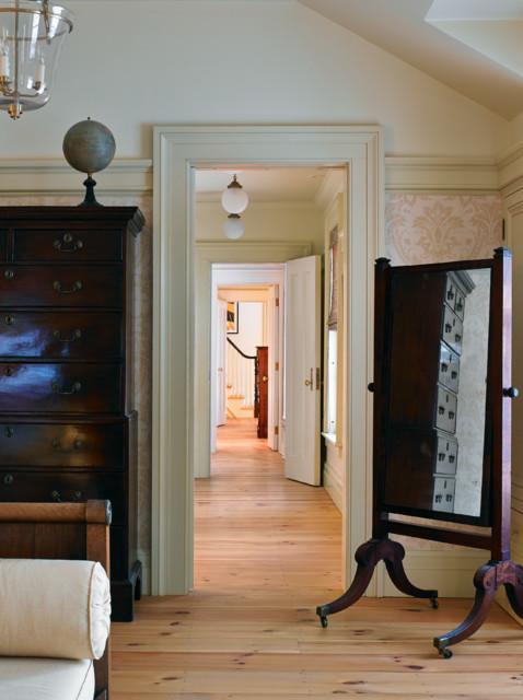 Greek Revival  Farmhouse  Bedroom  burlington  by