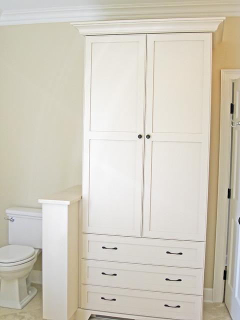 Bathroom Linen Cabinet Traditional Charleston By Sea
