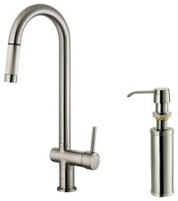 Vigo Stainless Steel Pull-Out Spray Kitchen Faucet with ...