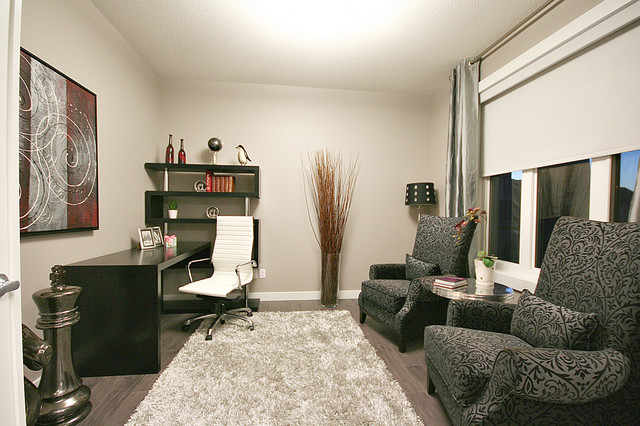 nice living room rugs designs with blue walls cameron model show home - contemporary office ...