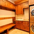 Log home laundry room denver by mountain log homes of co inc