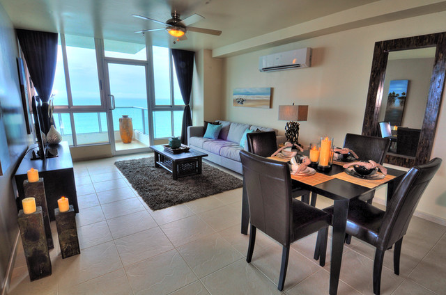 Beachfront Condo Design - Tropical - Living Room - other ...