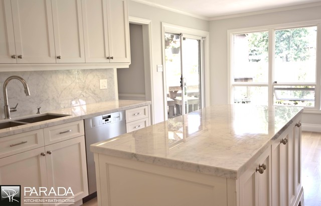 Off White KitchenCarrera Tops  Traditional  Kitchen