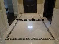 Vanilla Cream Polished Marble Hallway- Residential Toronto