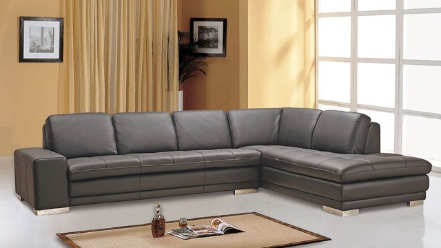 polaris contemporary leather sofa set plans free style full corner couch ...