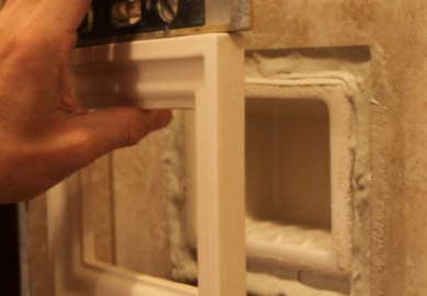 Recessed Bathroom Shower Niche Towel Warmers Shampoo