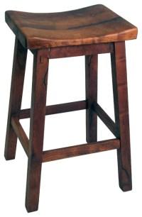 Mesquite Saddle Seat Bar Stool - Rustic - Bar Stools And ...