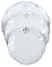 Fleur de Lis Charger, Set of 4 traditional-charger-plates