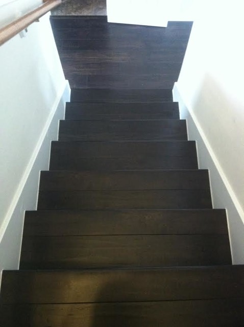 Espresso Laminate and Stairs  Transitional  houston  by