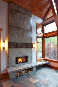 Mountain Modern home - fireplace renovation - Rustic ...