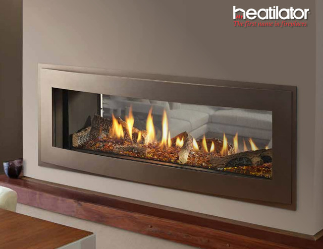 Photos Crave See Through Series Gas Fireplace Contemporary Indoor Fireplaces New York