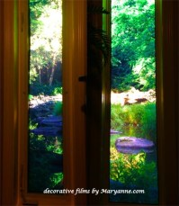 Installed stained glass door films I've done - Rustic ...