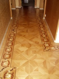 Hallway Border and Parquet