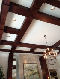 Box Beam Ceilings - Transitional - Living Room - miami ...