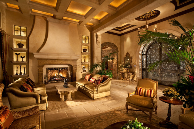 Renaissance Waters  Mediterranean  Living Room  Las
