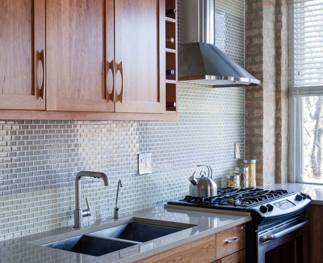 small lamps for kitchen counters grey countertops loft backsplash - contemporary chicago ...
