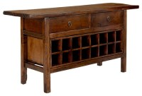 Vintage Chinese Wine Console Cabinet - Asian - Wine And ...