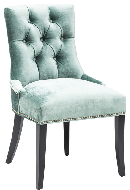 Eleanor Side Chair Brussels Aqua  Armchairs And Accent