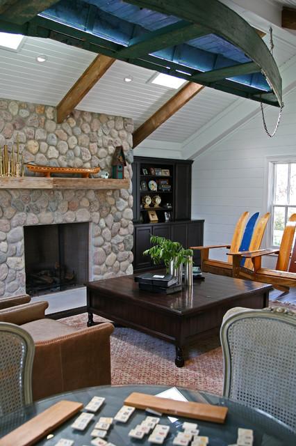 Fantastic Painted River Rock Fireplace Home Interior And Landscaping Mentranervesignezvosmurscom