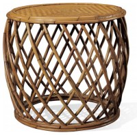 Cape Lodge Rattan Side Table - Tropical - Side Tables And ...