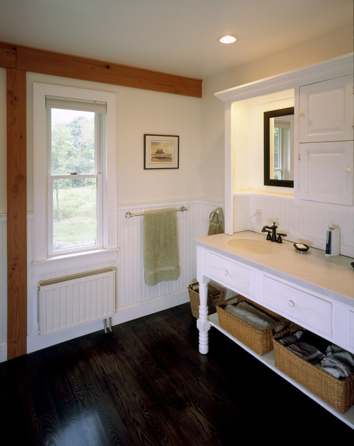 living room package with tv cream furniture valley farmhouse - rustic bathroom boston by habitat ...