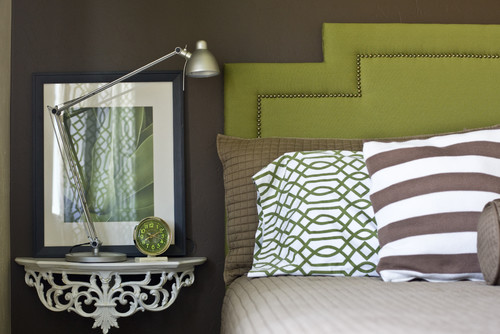 beveled inset corner headboard by Michelle Hinckley