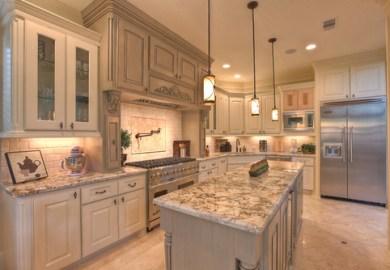 White Washed Oak Cabinets