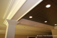 Coffered Ceilings and Beams - Traditional - Basement - by ...