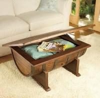 Handmade Vintage Oak Whiskey Barrel Coffee Table ...