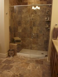 Shower Pan Tile Design Ideas, Pictures, Remodel and Decor