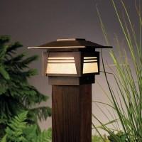 Kichler 15071 Zen Garden 1 Light Outdoor Post Lamp - Asian ...
