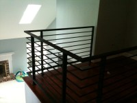 Horizontal painted steel railing - Contemporary ...