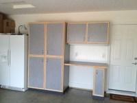 Custom built garage storage cabinets
