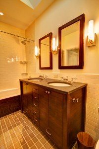 What is the best lighting over vanity? Are side lights