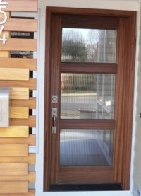 Wood and Glass Entry Door - Modern - Front Doors - other ...