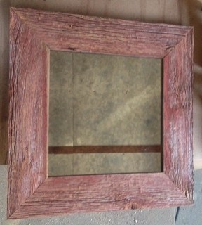 Custom Antique Mirror Glass Amp Rustic Barn Wood Frame
