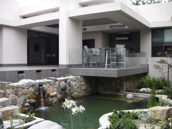 contemporary style koi pond - asian