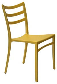 Stackable Modern Chair, Yellow - Contemporary - Outdoor ...