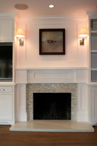 Fireplace hearth flush w/ floor - Would mosaic tile work ...