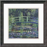 Water Lily Pond, 1899 (Blue) Framed Print by Claude Monet ...