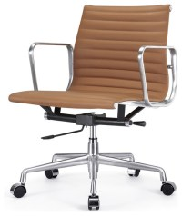 M341 Modern Office Chair in Brown Leather - Contemporary ...