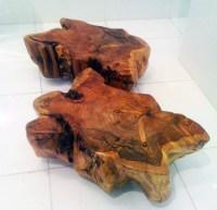 Custom Made Wood Stump Tables