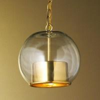 Brass Cap and Globe Pendant - Pendant Lighting - by Shades ...