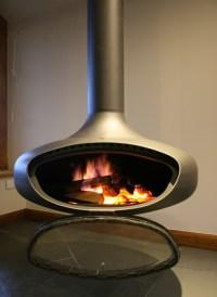 Hanging Wood Burning Fireplace. Free Standing Wood Burning ...
