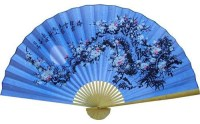 Cobalt Blue Blossoms Asian Wall Fan - Asian - Home Decor ...
