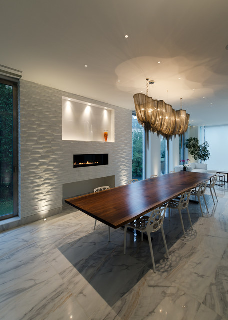 Atlantis Linear Chandelier by Terzani  Contemporary  Dining Room  chicago  by Lightology