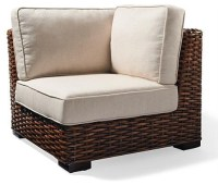 Bombay Woven Corner Chair - Traditional - Chairs - by ...