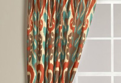 Orange And Teal Shower Curtain