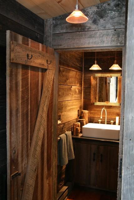 Rustic Cabin Bathroom