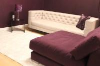 Purple and Tan contemporary Furniture - Living Room - miami